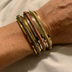 Jewelry - Gold/silver/rose gold hair tie cuff bracelets